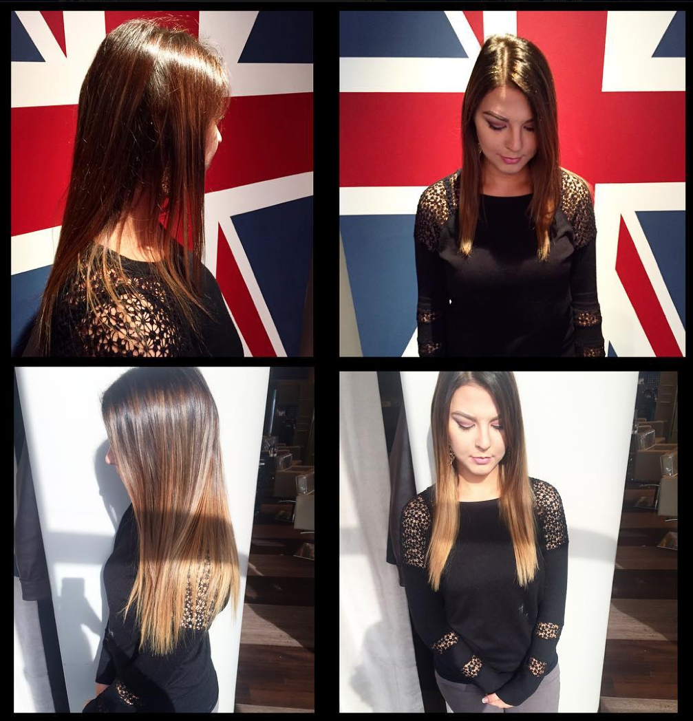 Before And After Custom Tape In Hair Extensions By Gabrielle Adding