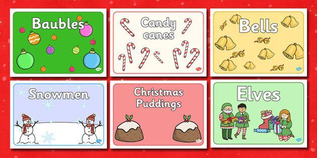 Editable Christmas Group Signs - Christmas, xmas, group sign, table - editable signs