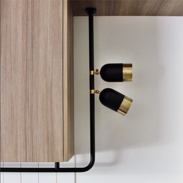 Black Track Lighting Kitchen: Black And Brass Light Fittings