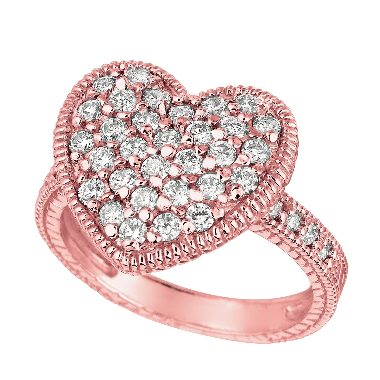 diamond lake sets rings corrals engagement shape heart side ring wedding shaped pink