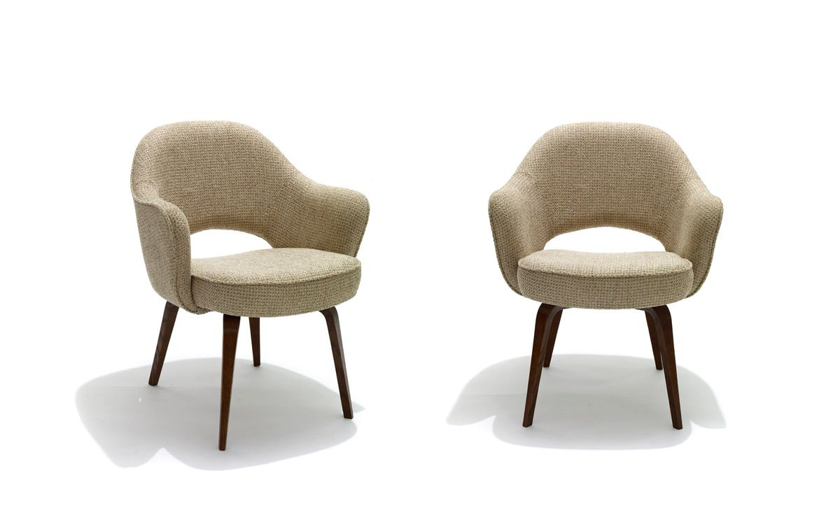 Optional Dining Chairs   Saarinen Executive Arm Chair With Wood Legs    Hivemodern.com