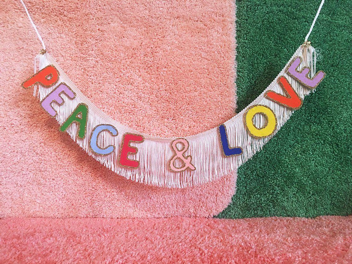 Peace & Love Fringe Banner