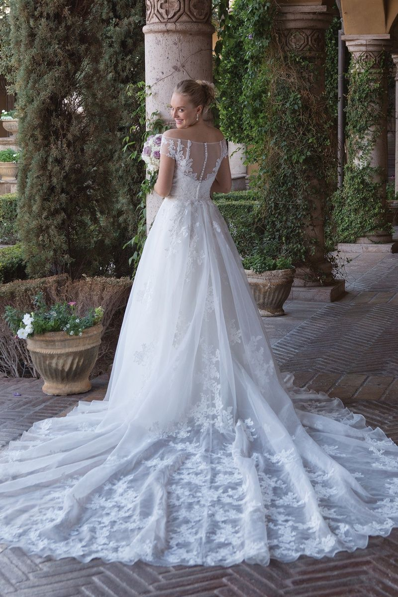 Style 4012DT Detachable Cathedral Length Train Wedding