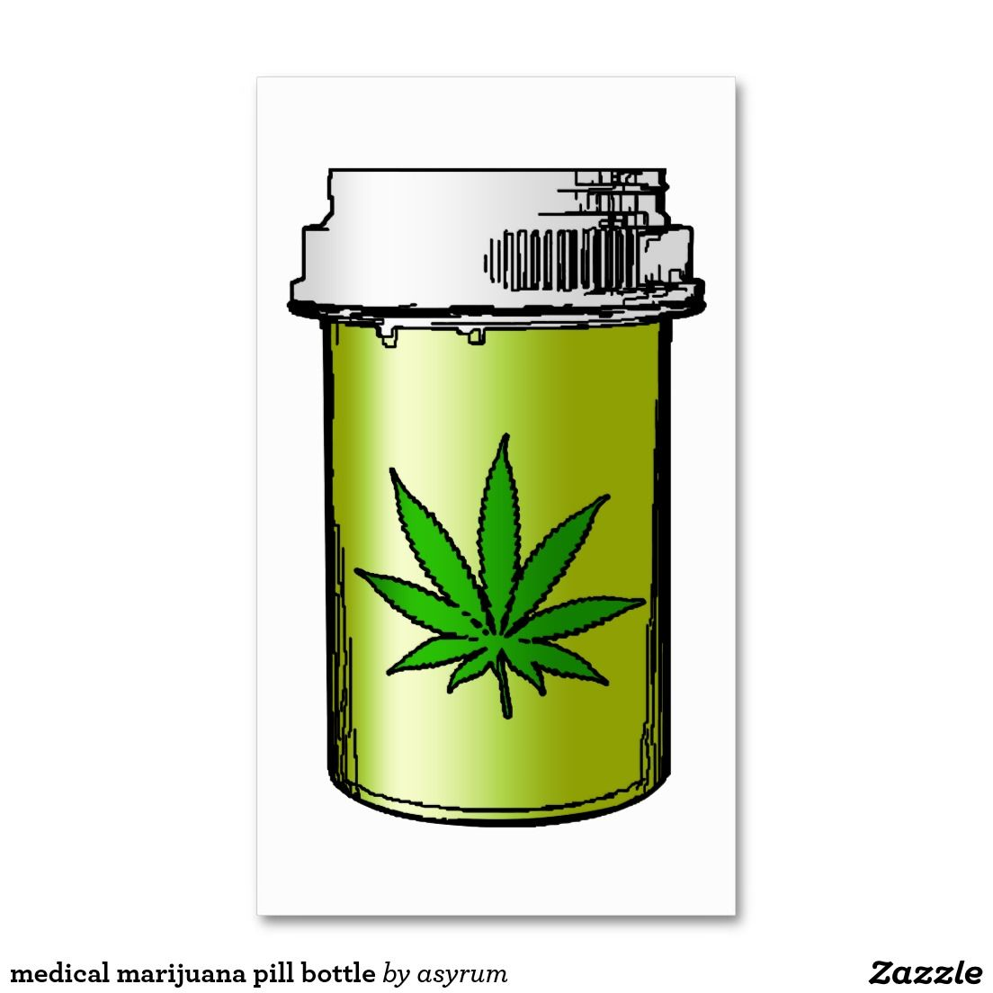 medical marijuana pill bottle Double-Sided standard business cards ...