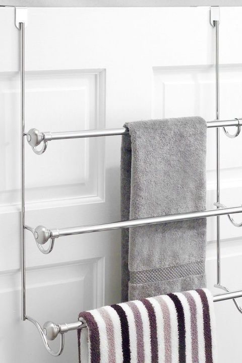 20 Creative Bathroom Organizers Under 20 Towel Rack Bathroom Organization Towel Rack Bathroom