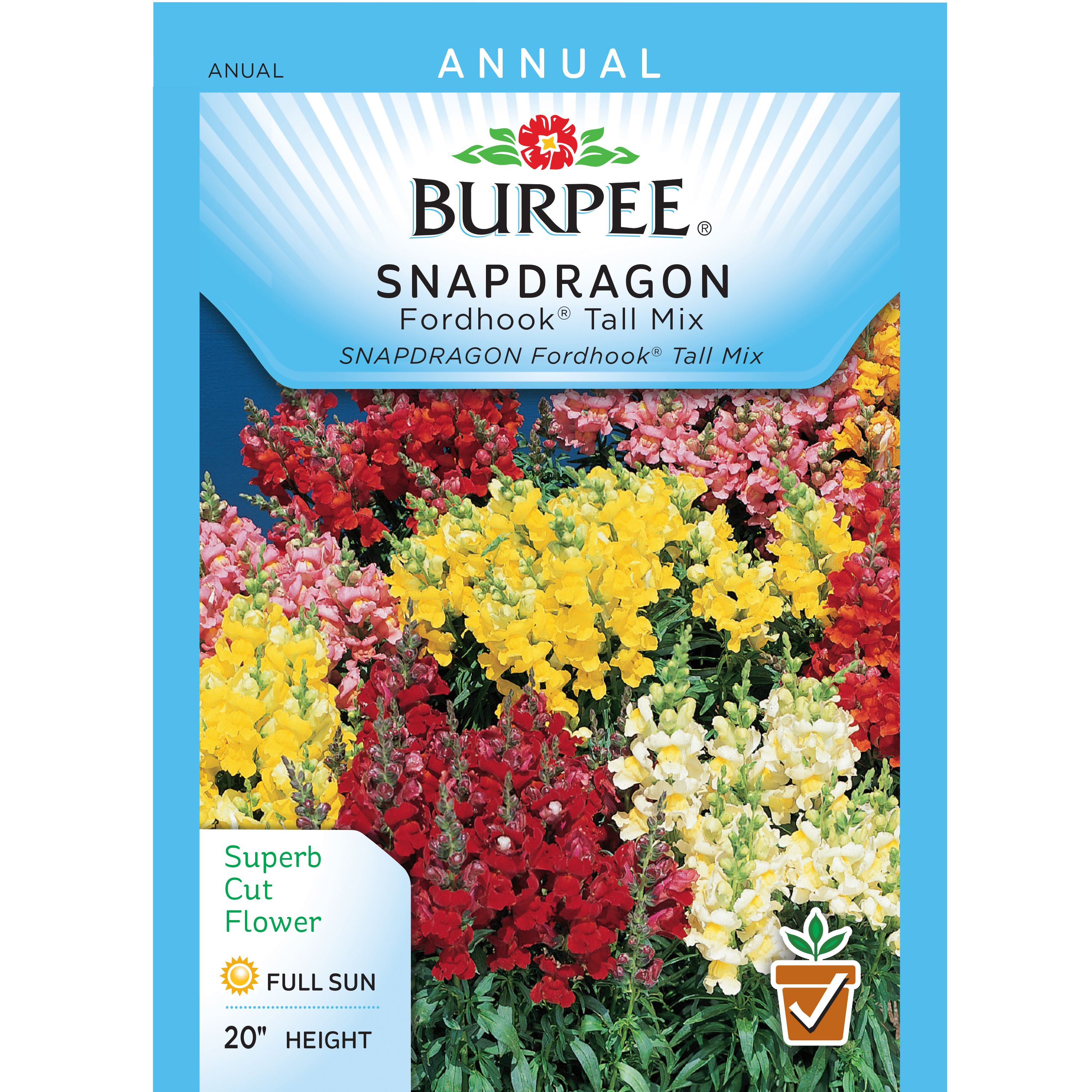 Burpee Snapdragon Fordhook Tall Mix Seed Packet Walmart