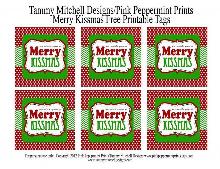 47aecdef2d715 FREEBIE: Free Printable Tag: We Wish You a Merry Kissmas » Pink ...