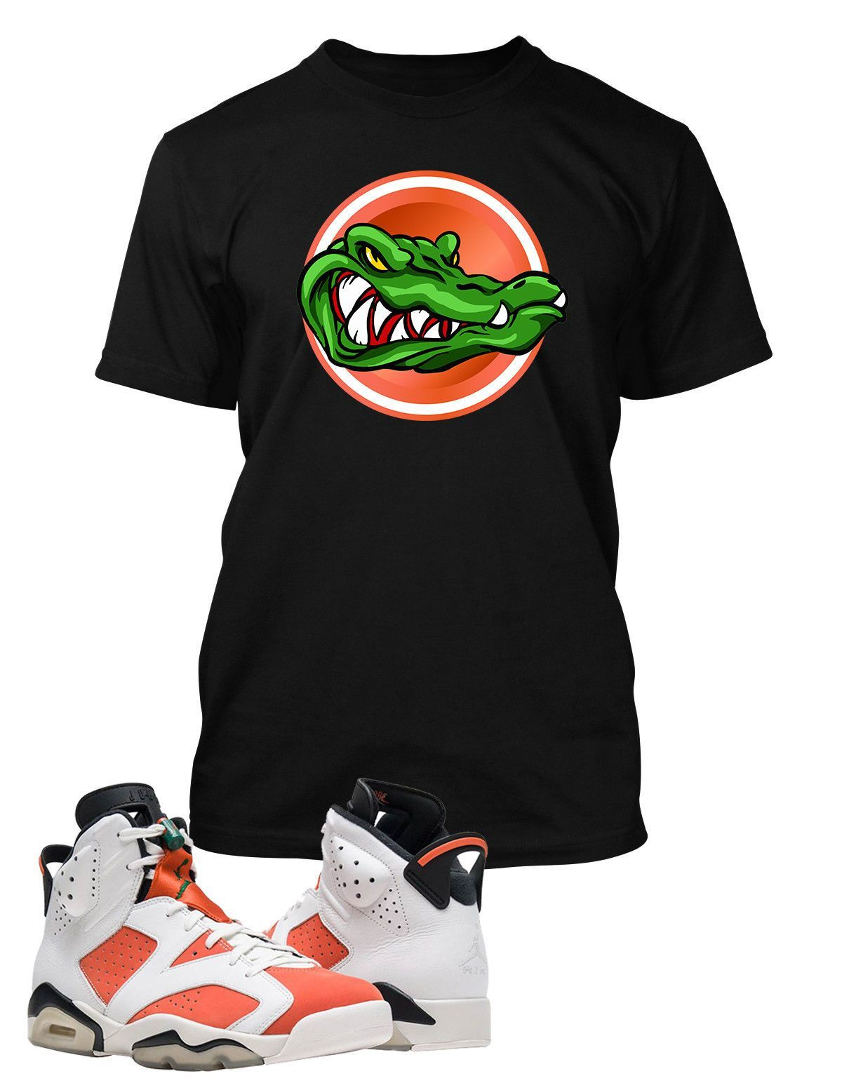 24f91509a38 Gator T Shirt to Match Retro Air Jordan 6 Gatorade Shoe | Kicks ...