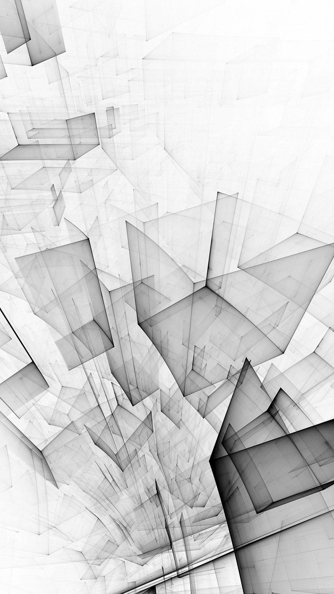 Abstract Bw White Cube Pattern iPhone 8 Wallpapers