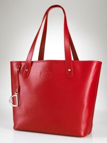 Newbury Leather Classic Tote Lauren