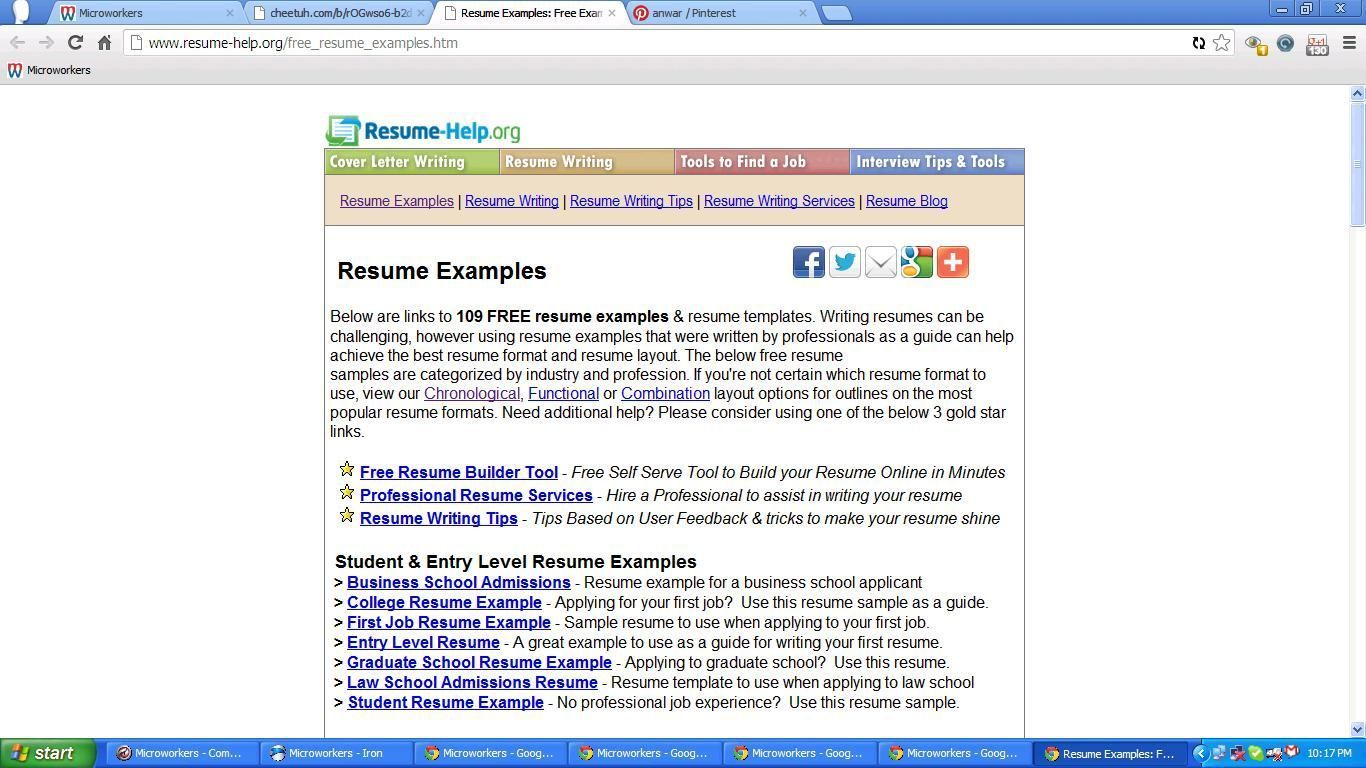 Make Free Resume Online Looking For Free Resume Examples Site Offers A Comprehensive .