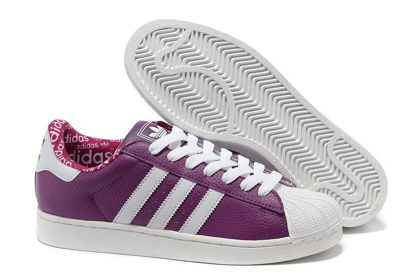 huge selection of b7313 15f13 zapatillas adidas superstar 2 cuero purple blancas