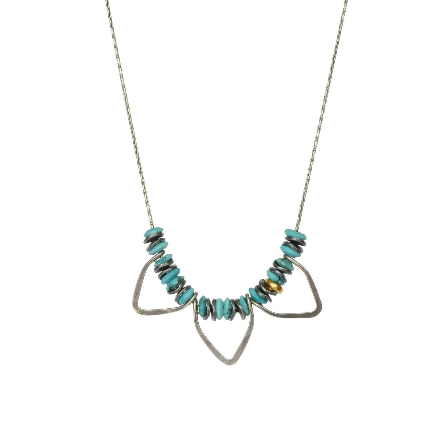 Tribal Turquoise Necklace Turquoise Petal Necklace