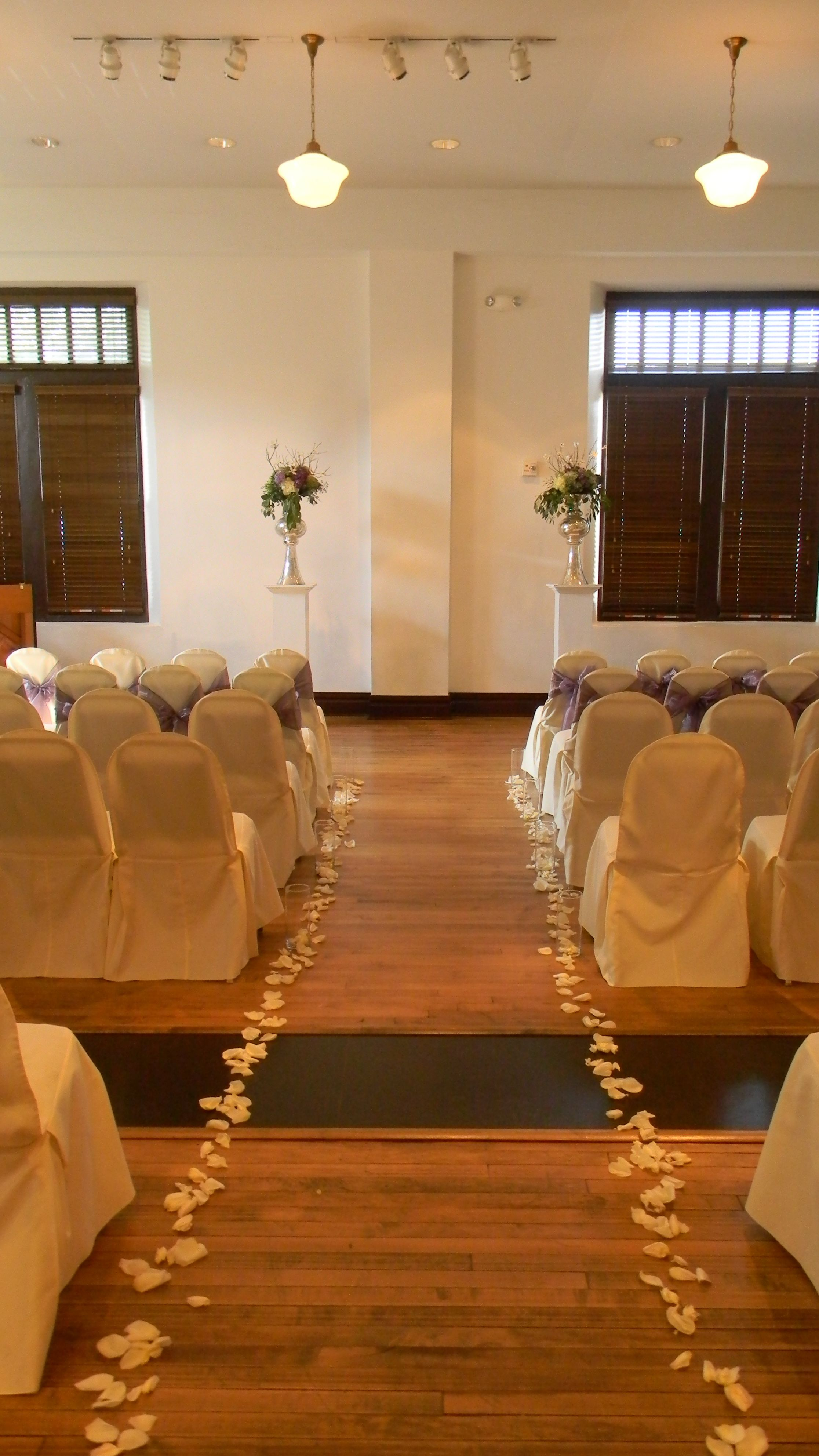 Wedding Ceremony for 130 in Ruschhaupt Hall