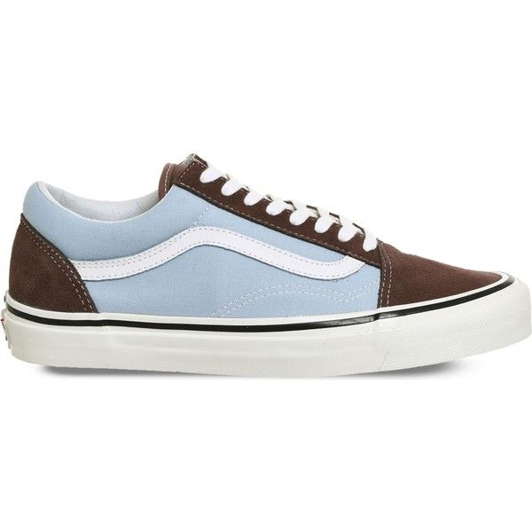 Vans Old Skool 38 Dx Canvas And Suede Trainers 59 Liked On Polyvore Featuring Shoes Sneakers Vans Old Skool Suede Trainers Stripe Canvas Shoes