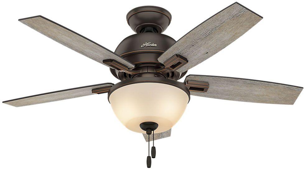 Hunter 52225 Donegan Bowl Light Barnwood Dark Walnut Led 44 Indoor Ceiling Fan