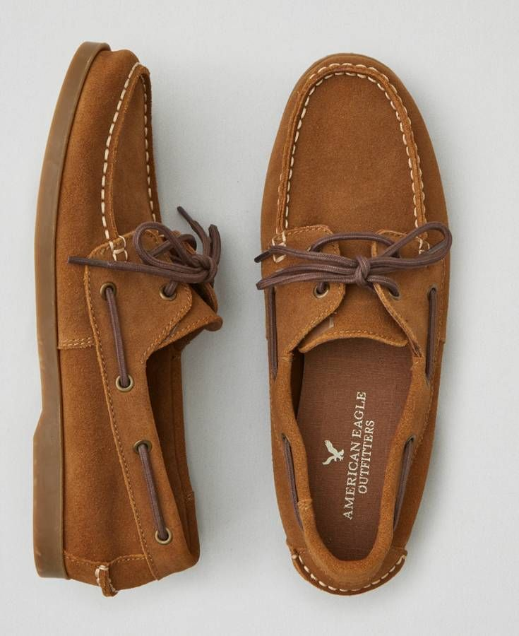 0603837eab3 American Eagle Suede Boat Shoe Loafers Men