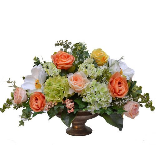 Floral Home Decor Mixed Centerpiece In Decorative Vase Silk Floral Centerpiece Silk Flower Arrangements Flower Arrangements