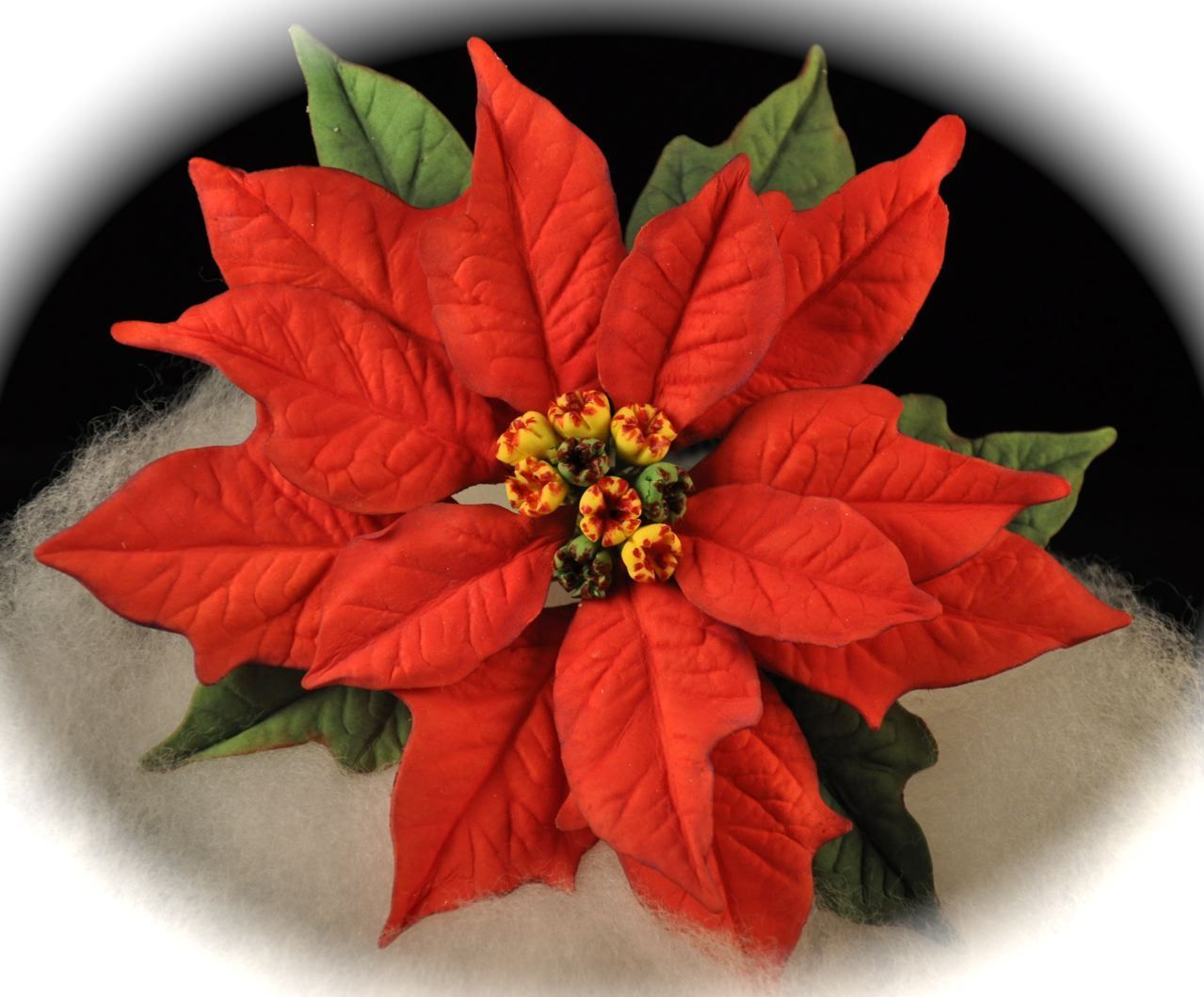 Poinsettia This Is My First Gumpaste Poinsettia I Made It For A
