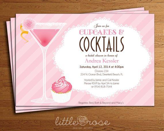 Bridal Shower Invitation Dessert Shower Bachelorette Party