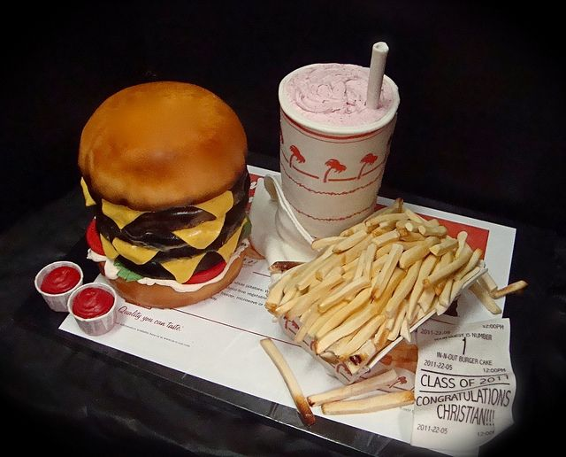 in-n-out burger cake  by debbiedoescakes, via Flickr