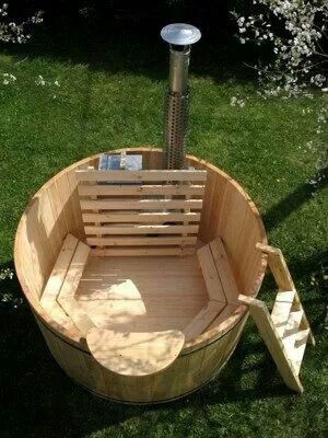 Wooden Hot Tub With Images Hot Tub Garden Diy Hot Tub Tub
