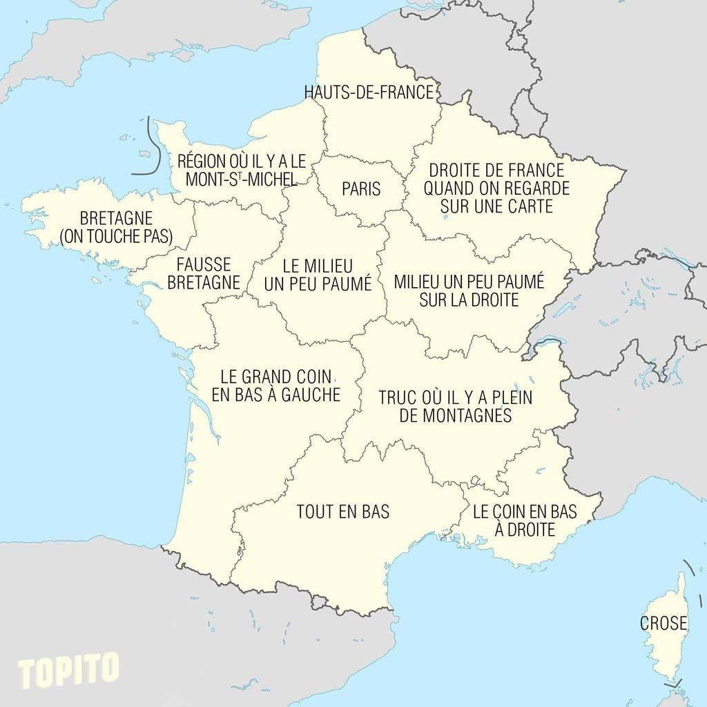 Discussions Absurdes Sur Le Nom Des Regions Les Regions De