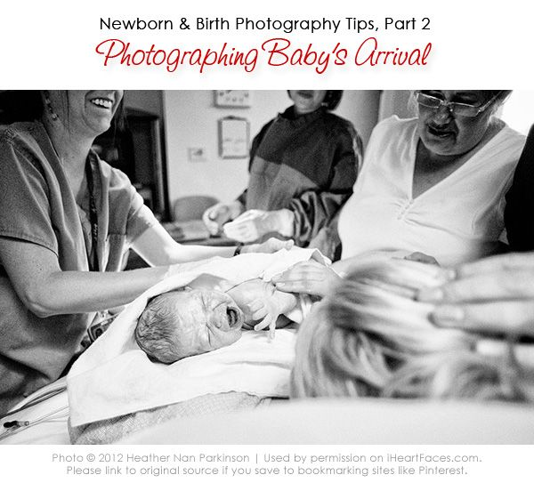 Amazing Birth Photography Tips and series focusing on baby's