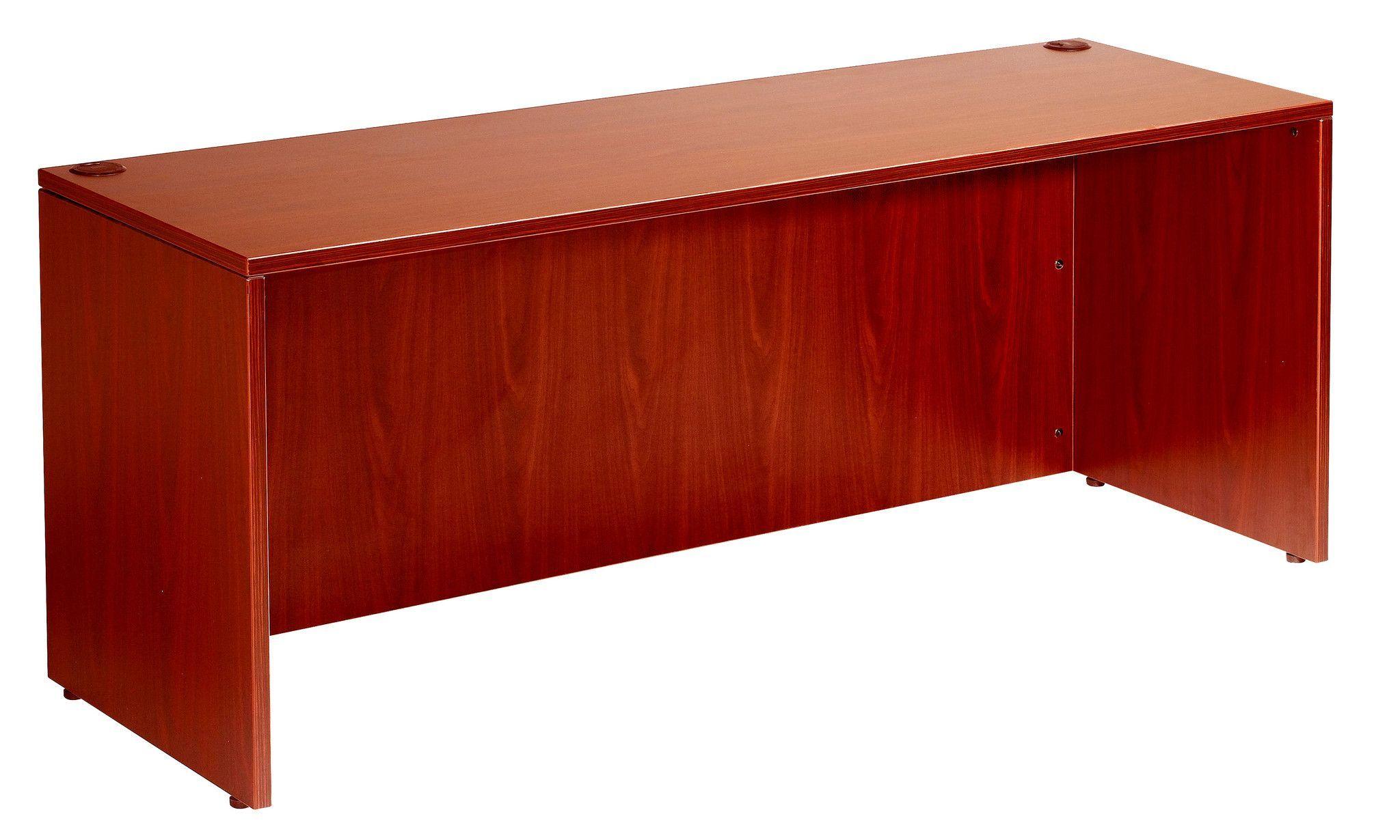 Boss 48-Inch Width by 24-Inch Depth Desk Shell, Mahogan