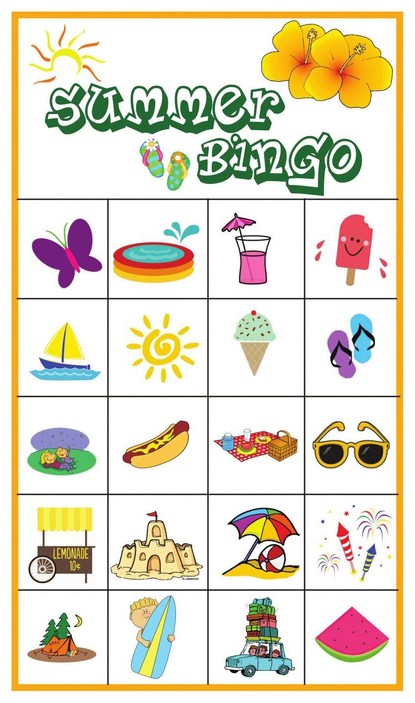 Summer Bingo Game with Free Printables Summer bingo