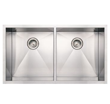 WHNCM3720EQ 37″ Noah's Collection commercial double bowl undermount sink « Whitehaus Collection Products