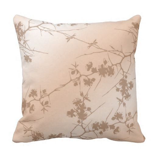 Peach Swirling Vines Pillows dorm Pinterest