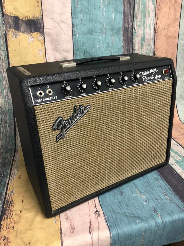 Fender Princeton Reverb 12-Watt Vintage Blackface Guitar Combo Amp #fenderguitars