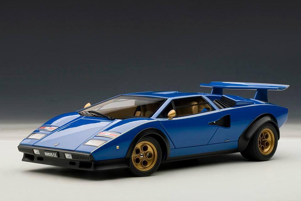 Autoart Lamborghini Countach Lp500s Walter Wolf Edition Blue 74652 In 1 18 Scale Lamborghini Countach Lamborghini Car Model