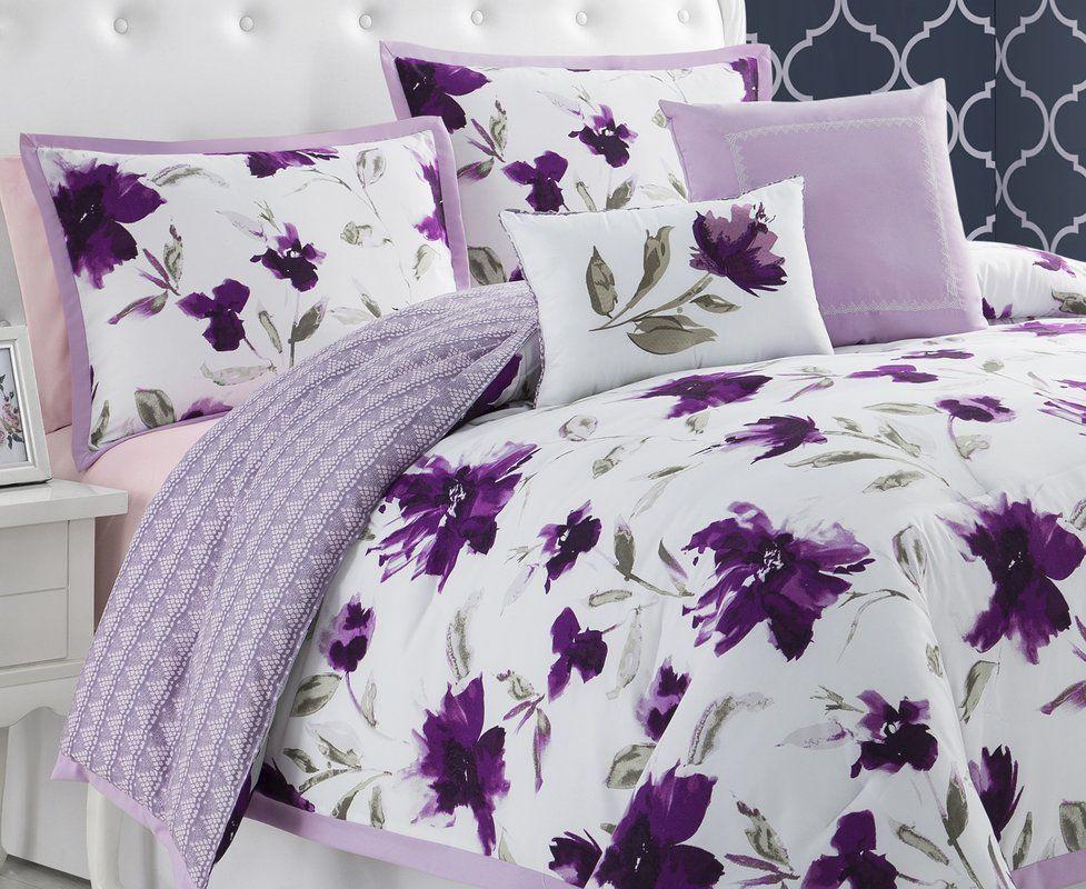 Reversible Comforter Set Comforter Sets Purple Bedrooms Comforters