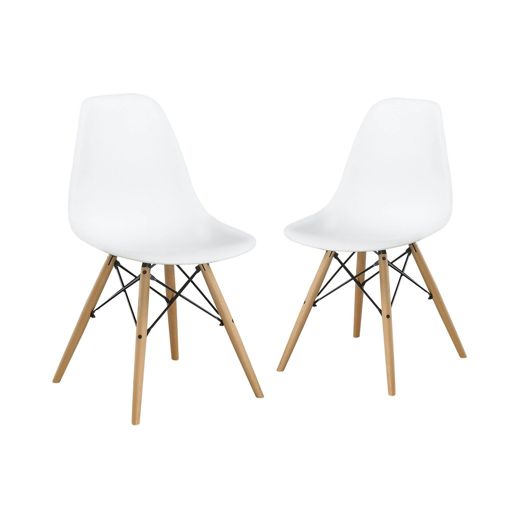 Set of 2 Hackney Contemporary Accent Chair White HOMES