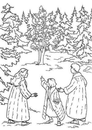 Snow On Narnia World Chronicles Of Narnia Coloring Page: Snow on ...