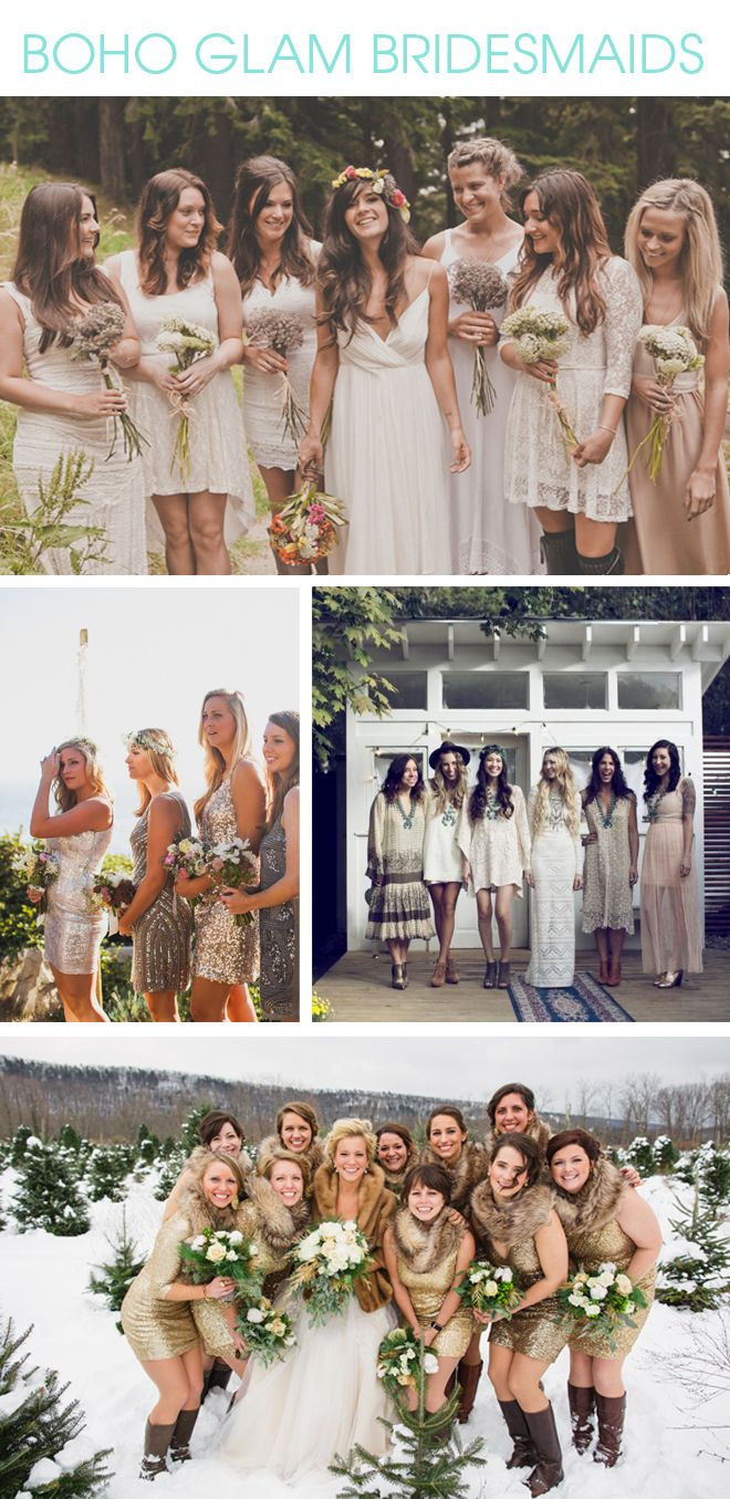 Check out these killer ideas for bohoglam bridesmaid looks ideas