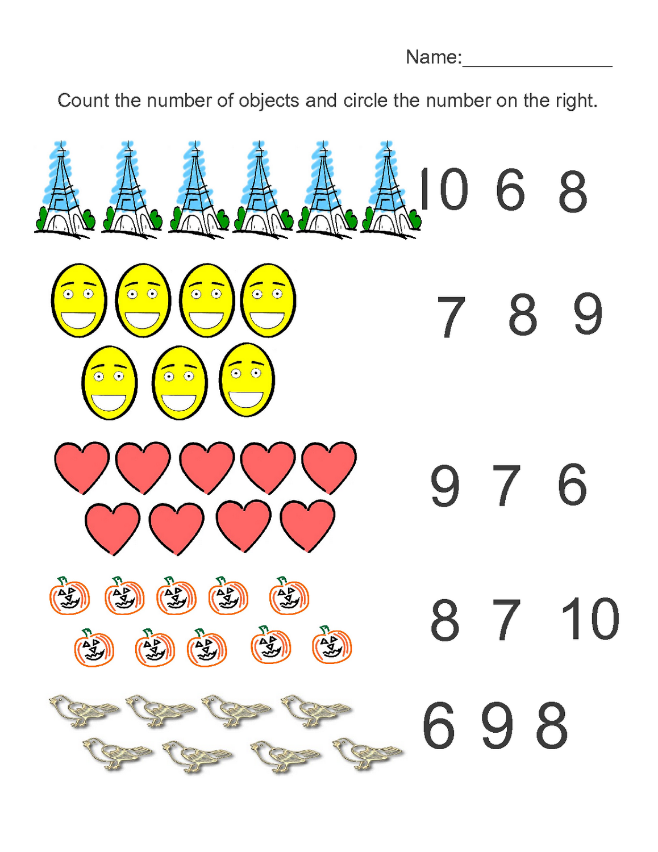medium resolution of Pre K Worksheets Numbers   Kids Learning Activity   Pre k worksheets