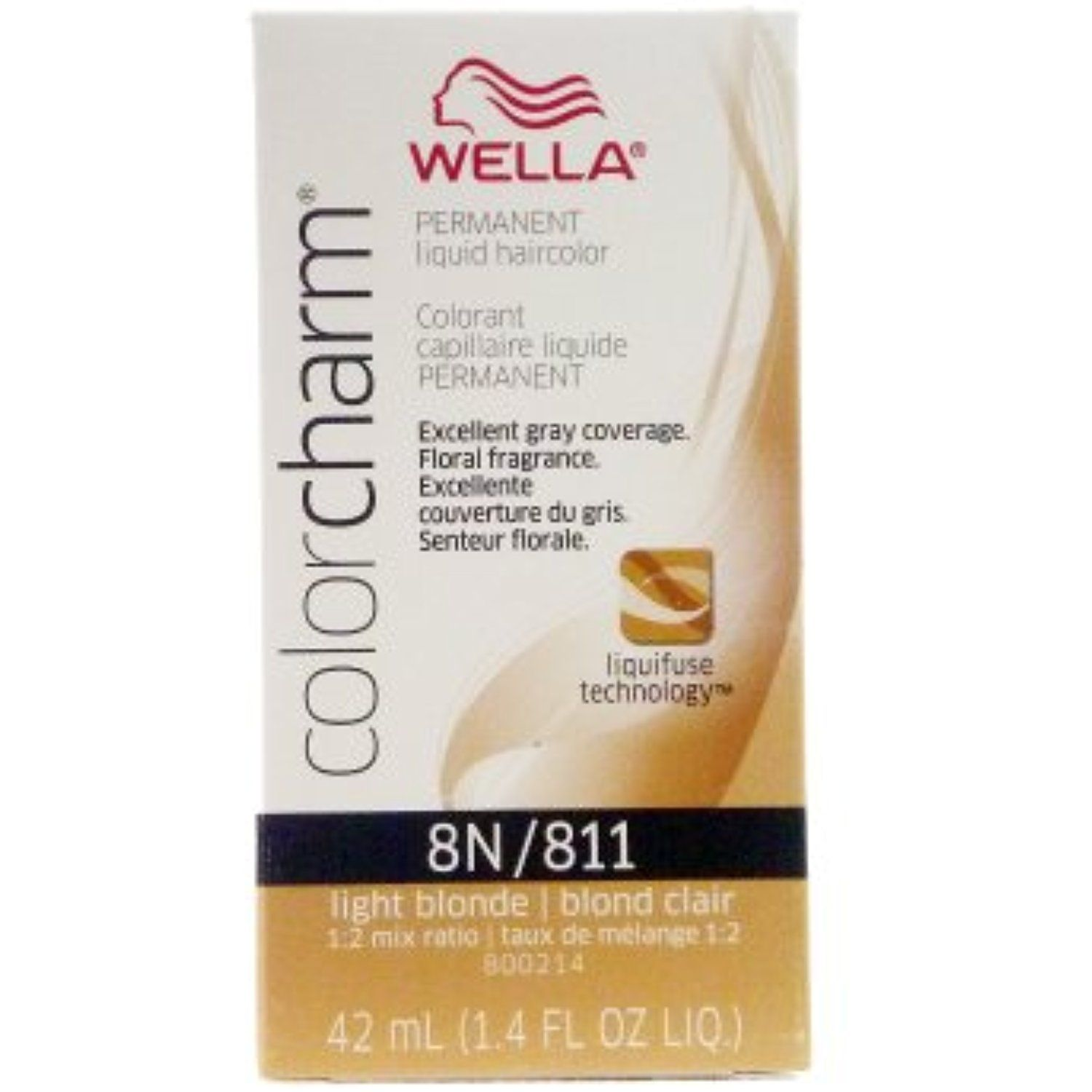 Wella Color Charm 8n811 Light Blonde Permanent Liquid Hair Color