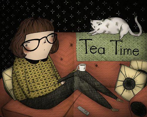 Tea Time. 2013, ink, graphite, digital © Mai Ly Degnan