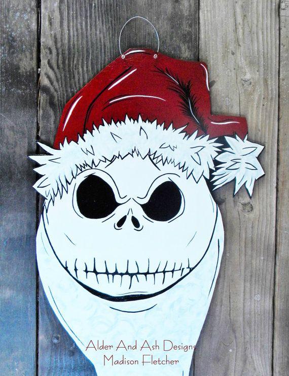 Nightmare Before Christmas Inspired Door Hanger, Jack Skellington - retail and consumer door hanger template