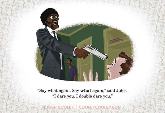 "Pulp Fiction | A Pixar Artist Drew Classic R-Rated Film Scenes And Turned Them Into A ""Children's"" Book"