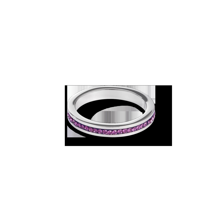 Lassen Sie es Glitzern. Mit einem eleganten Ring aus Edelstahl 316L und funkelnden Kristallen in Pavéfassung.