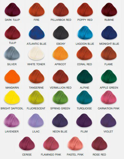 Names Of Hair Colors 2 With Images Hair Dye Colors Bright