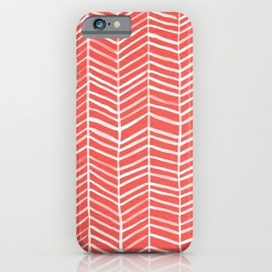 coral herringbone iPhone case 6, iphone 5, iphone 4, all model, great design 64gb, 16gb, 128gb, best for birthday gift, Christmas gift, slim case, tough case, adventure case, power case