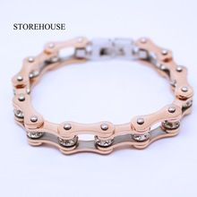 200e7a5da1a42 SALE $19.8 - STOREHOUSE High Quality Rose Gold Motorcycle Chain ...