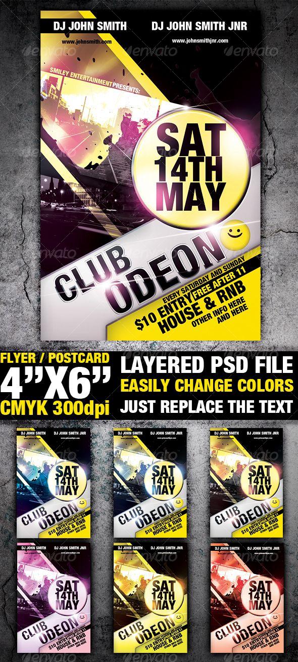Club Flyer Template Flyer template, Template and Stationery design - club flyer maker
