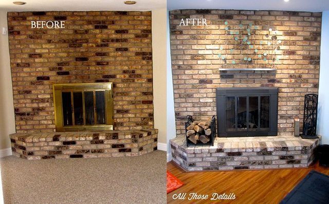 Spray Painted Brass Fireplace Doors Easy Project Was Great Results Directions At Allthosedetails Com