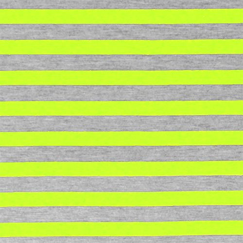 520fdd9f67e Neon Yellow Heather Gray Half Inch Stripe Cotton Jersey Blend Knit Fabric -  A poppy neon yellow and heather gray stripes on cotton jersey poly rayon  blend ...